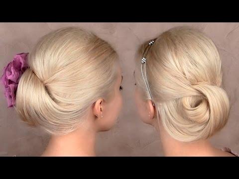 Easy updo hairstyles for medium long hair tutorial - Egyszerű fejtetőre fésült frizura