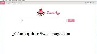 ¿Cómo Quitar Sweet-page.com