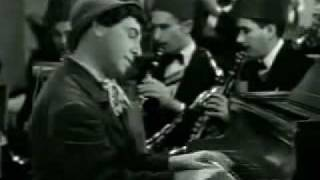 "Chico Marx Playing Piano in ""a Night at Casablanca"""