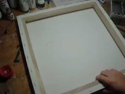How To Fix Ripped Canvas Painting