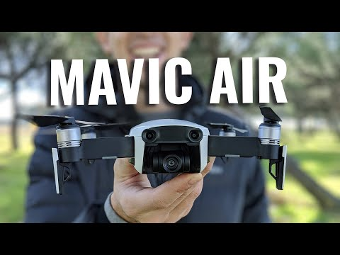 video DJI Mavic Air – Dron con cámara para grabar videos 4K a 100 Mb/s y Fotos HDR, 8 GB de almacenamiento interno – Blanco