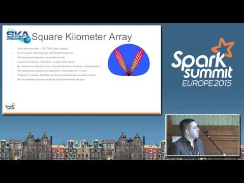 Distributed data processing using Spark in Radio Astronomy