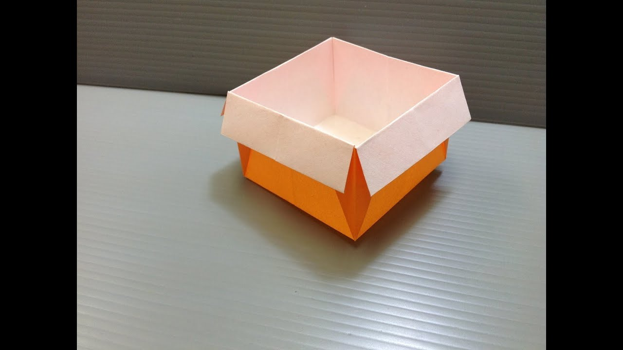 Daily Origami: 027 - Box - YouTube - photo#1