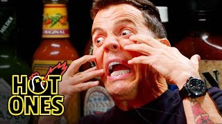 Steve-O Tells Insane Stories While Eating Spicy Wings | Hot Ones