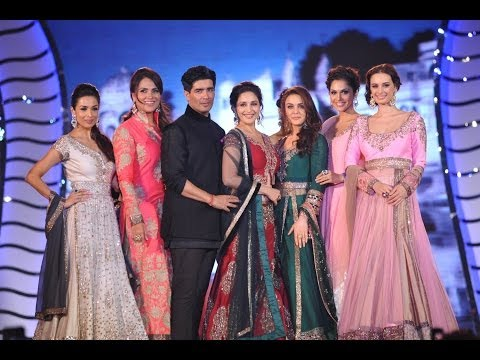 Madhuri, Preity, Malaika walk for Manish Malhotra
