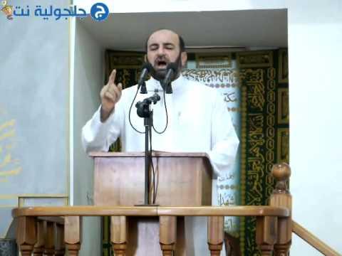 خطبة عيد الفطر من مسجد البخاري في جلجولية 28.7.14 -