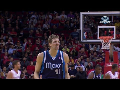 Dirk Nowitzki Full Highlights at Rockets (2013.12.23) - 31 Pts, 13th On Scoring List
