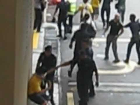 Cornered protesters brutally assaulted by violence Malaysian police during Bersih 3.0
