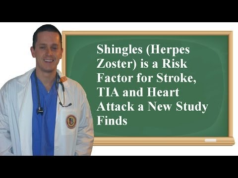 Shingles (Herpes Zoster) is a Risk Factor for Stroke, TIA and Heart Attack a New Study Finds