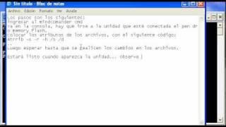 Mostrar Archivos Ocultos De Los Pen Drive O Memory Flash