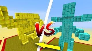 Thử Thách Làm Nhà Vàng Và Kim Cương Trong Minecraft