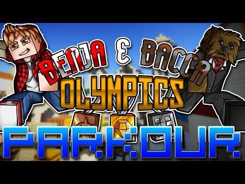 Minecraft: Benja & Bacca Olympics Game 5 - Parkour Sprint Race!