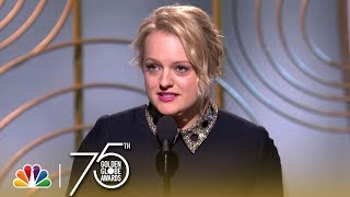 Elisabeth Moss Wins Best Actress in a TV Series, Drama at the 2018 Golden Globes