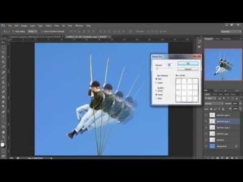 Tạo ảnh chuyển động nhiều bước trong Photoshop