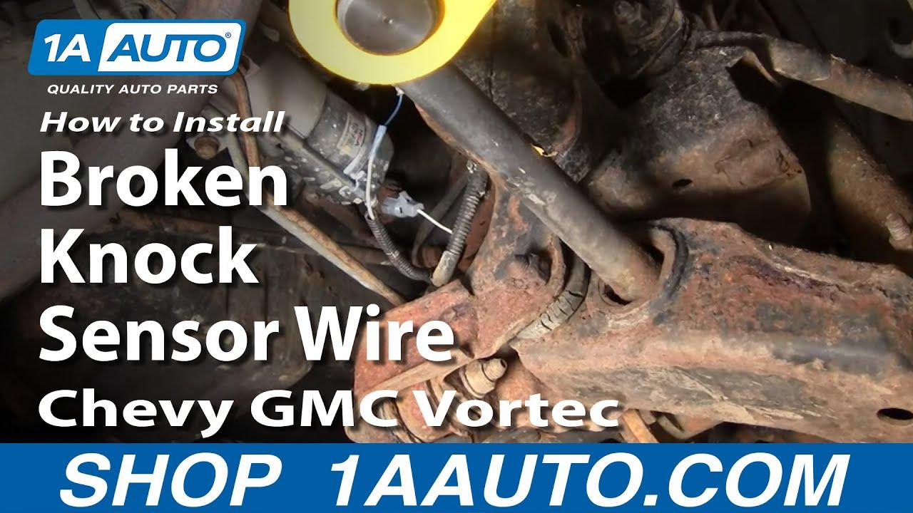 How To Install Replace Broken Knock Sensor Wire Chevy Gmc Vortec 5700 1aauto Com