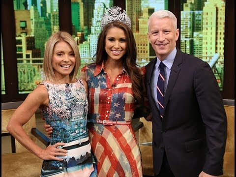 Miss USA 2014 Nia Sanchez on LIVE with Kelly and Michael