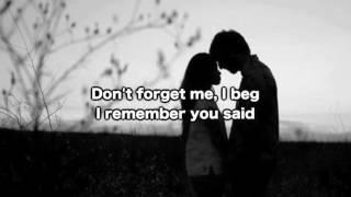 Witt Lowry - Don't Forget Me (lyrics on screen)