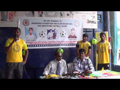 TWO SLUM BOYS FROM SPORTS COACHING FOUNDATION REPRESENTING IN INDIAN FOOTBALL TEAM