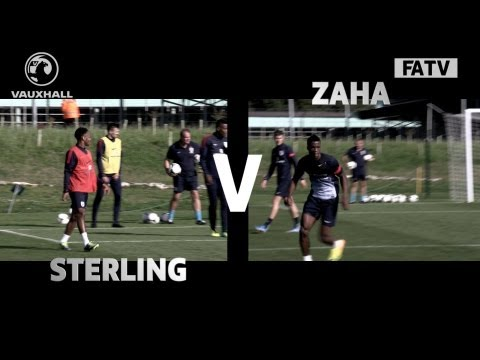 Raheem Sterling vs Wilfried Zaha - Great goals from England U21s training