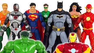 Hulk and Iron Man are hurt! Go! Justice League! Batman, Superman, Wonder Woman! - DuDuPopTOY
