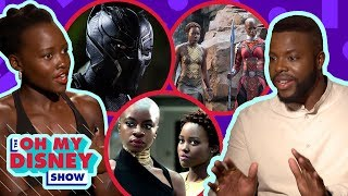The Cast of Black Panther Tells Us Their Favorite on Set Moments | Oh My Disney Show by Oh My Disney