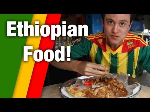 Irresistible Ethiopian Food - Tasty Meat Platter!