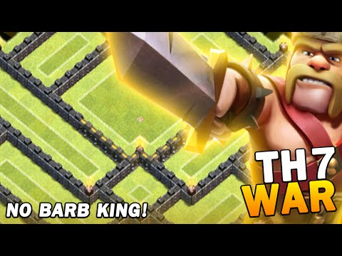 TH7 WAR BASE! (NO BARB KING) CRAZY BASE! JUNE 2016