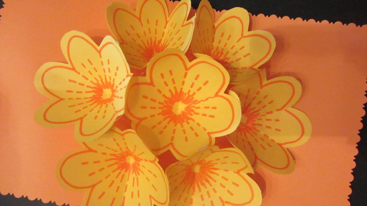 Мастер класс открытка 3д цветок