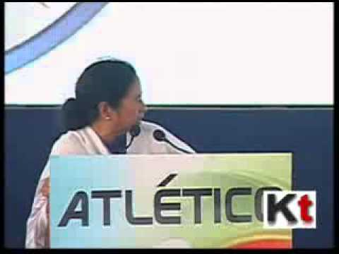 Mamata Banerjee at the Launch of Atletico De Kolkata