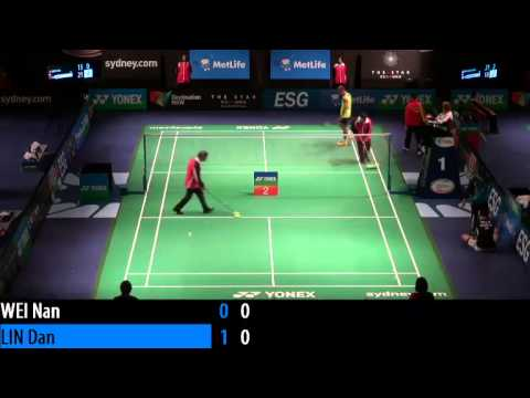 2014 THE STAR AUSTRALIAN BADMINTON OPEN - R16 - MS - Lin Dan vs Wei Nan