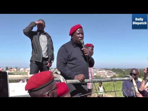 Malema is cheered in East London