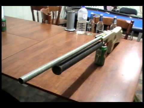 my homemade air rifle - piston valve