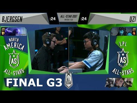 Bjergsen Ryze vs Uzi Kalista | Game 3 Grand Final 1v1 All-Stars 2017 | NA vs CN G3