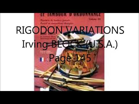 Rigodon variations usa Irvin BLOCK (U.S.A.)