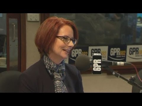 Radio presenter asks Julia Gillard if partner Tim Mathieson is gay