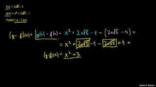 Razlika dveh funkcij