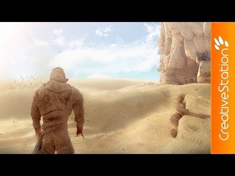 Lone Warrior - 3D Speed art (#ZBrush, 3D Max, Photoshop) | CreativeStation