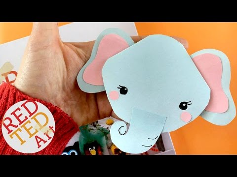 Easy Elephant Bookmark DIY - Corner Bookmark Designs