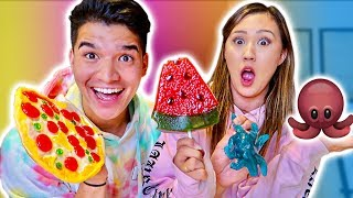 GUMMY vs REAL FOOD! ft Girlfriend