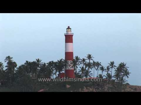Light house as seen from Kovalam beach