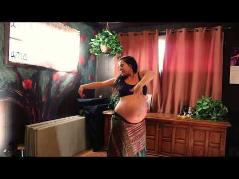 ~AMAZING~ 9 months pregnant belly dance ~BEAUTIFUL~ RAW ~ UNEDITED