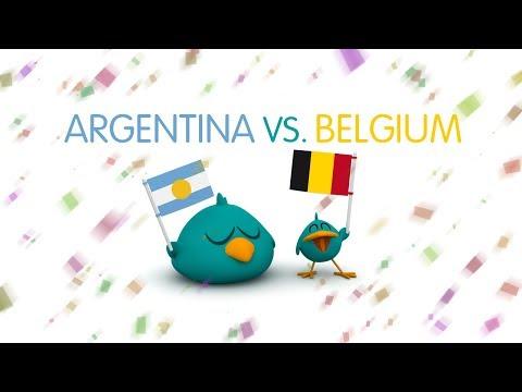 Pocoyo World Cup!! Argentina vs Belgium