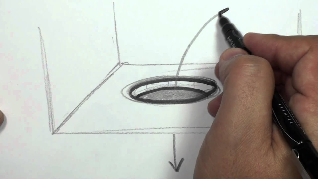 How To Draw A 3d Hole Draw A Hole In Paper Youtube