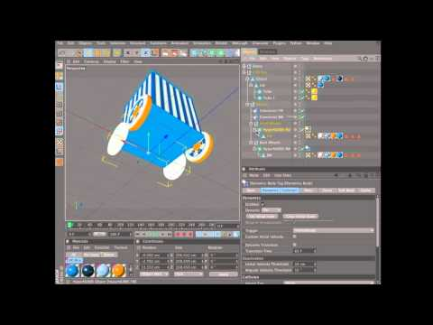 Create an animation using dynamics in Cinema 4D (1 of 6)