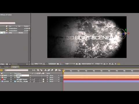 After Effects CS4 CS5 Tutorial: Create a 3D Light Shadow Scene Intro!