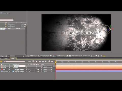 After Effects CS4 CS5 Tutorial: Create a 3D Light Shadow Scene Intro!