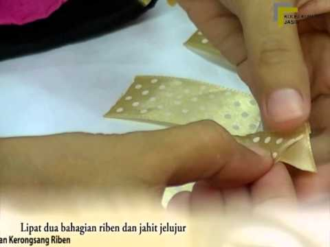 My3L@CC: DIY Jahitan Kerongsang Riben - YouTube