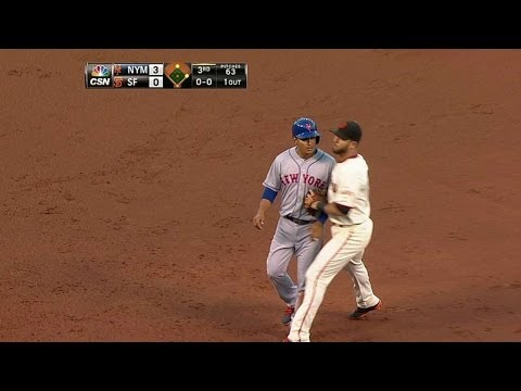 NYM@SF: Giants escape on Mets' baserunning error