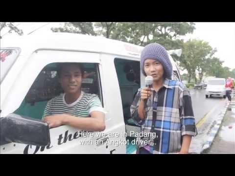 Angkot Padang driver (the unique of Padang mini bus)