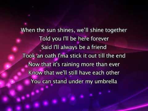 Rihanna - Umbrella, Ly... Rihanna Songs Lyrics